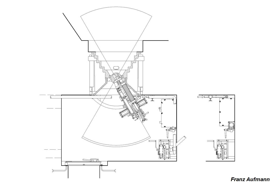 Rys. 2. Zewnętrzna izba bojowa ckm w jednokondygnacyjnym schronie dla dwóch ckm do ognia bocznego.