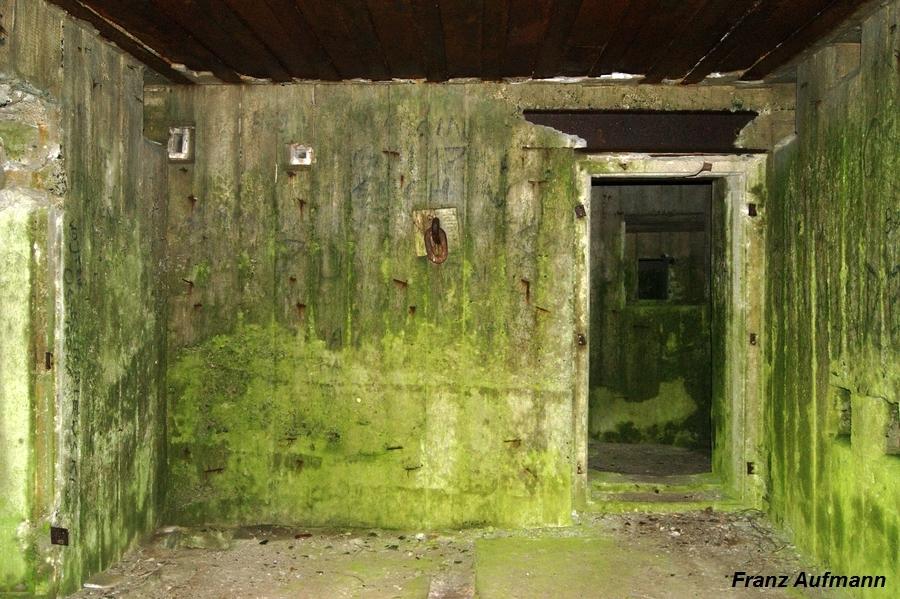 Fot. 09. Widok tylnej ściany środkowej izby bojowej. W ścianie osadzone jarzmo do montażu uzbrojenia.
