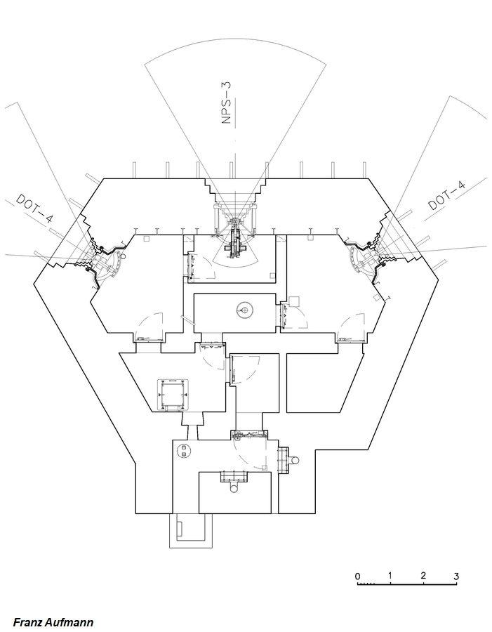 OPDOT - dwukondygnacyjny schron na dwie 45 armaty i ckm w centralnej izbie