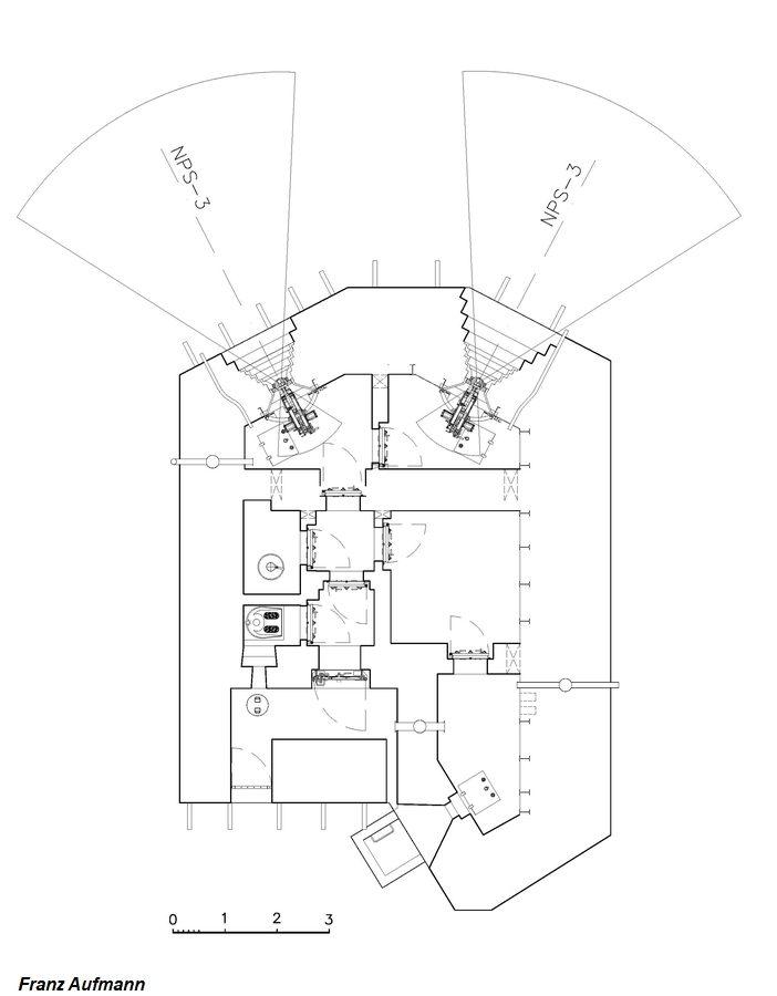 Rys. PDOT – jednokondygnacyjny schron na dwa ckmy i rkm.